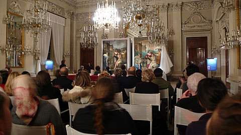 Disvelamento nella Sala Bianca di Palazzo Pitti