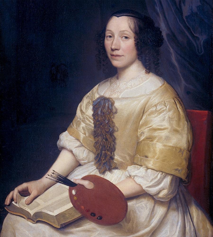 """Ritratto di Maria van Oosterwyck"", di Wallerant Vaillant, 1671"