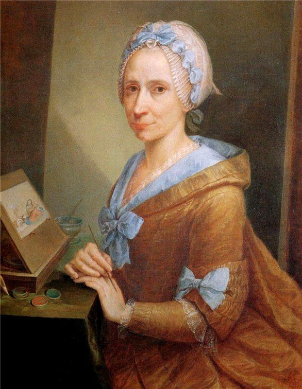 Self-portrait of Anna Piattoli, Uffizi Gallery Collection