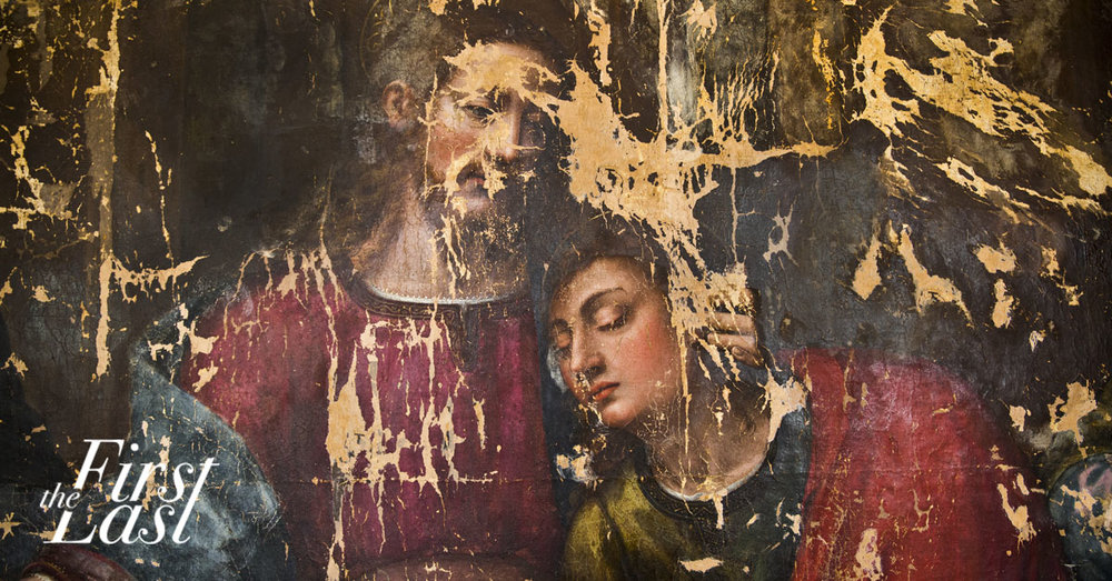Detail from Plautilla Nelli's last supper, undergoing restoration thanks to awa funding and crowdfunding