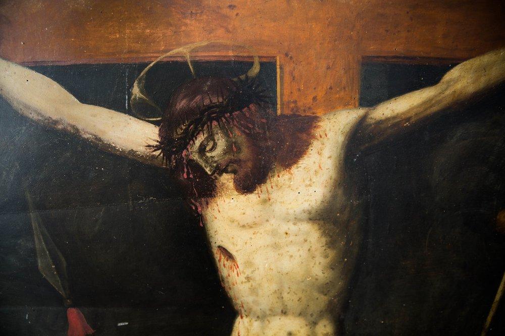 """Dettaglio della """"Crocifissione"""" di Plautilla Nelli, 1570 ca."""