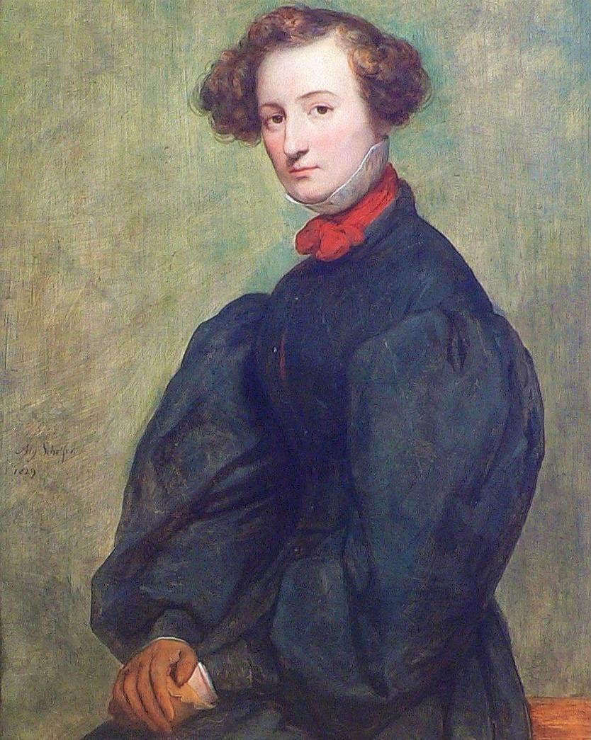 Portrait of Félicie de Fauveau (1829) by Ary Scheffer