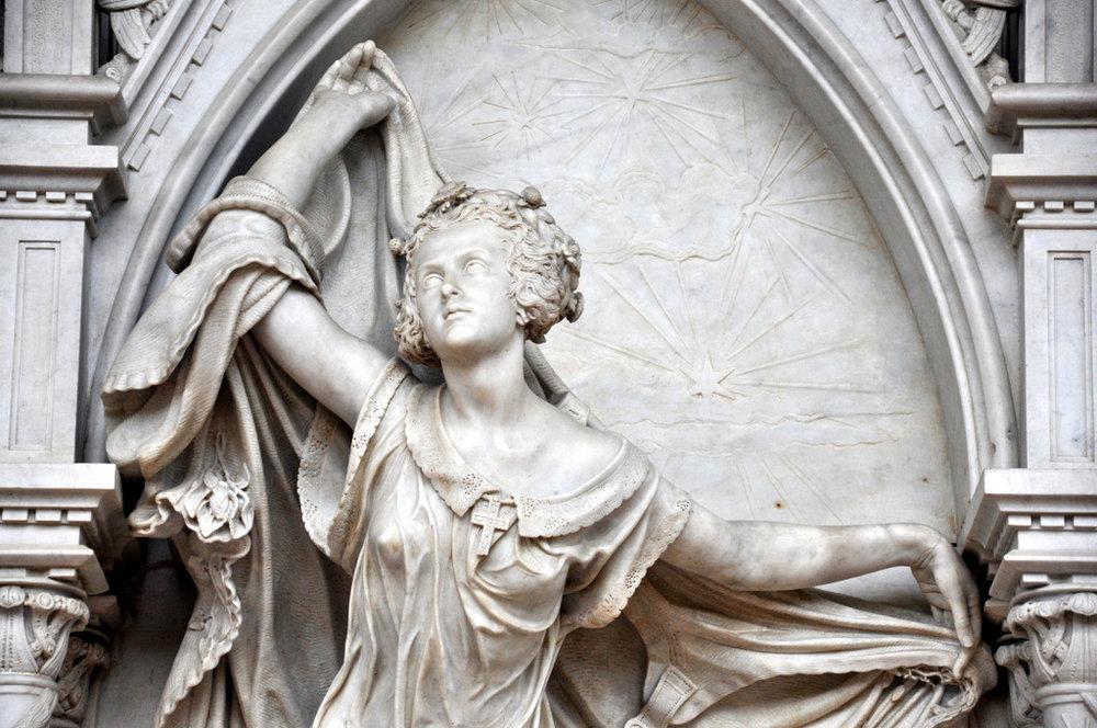Il monumento funebre a Louise De Favreau (1854)