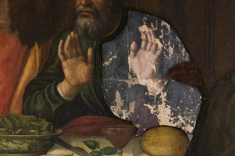 Uno dei dodici apostoli dipinti dalla Nelli