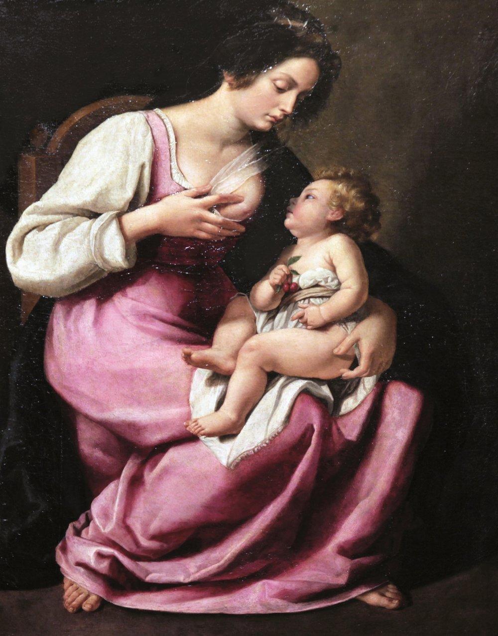 Madonna col Bambino di Artemisia Gentileschi