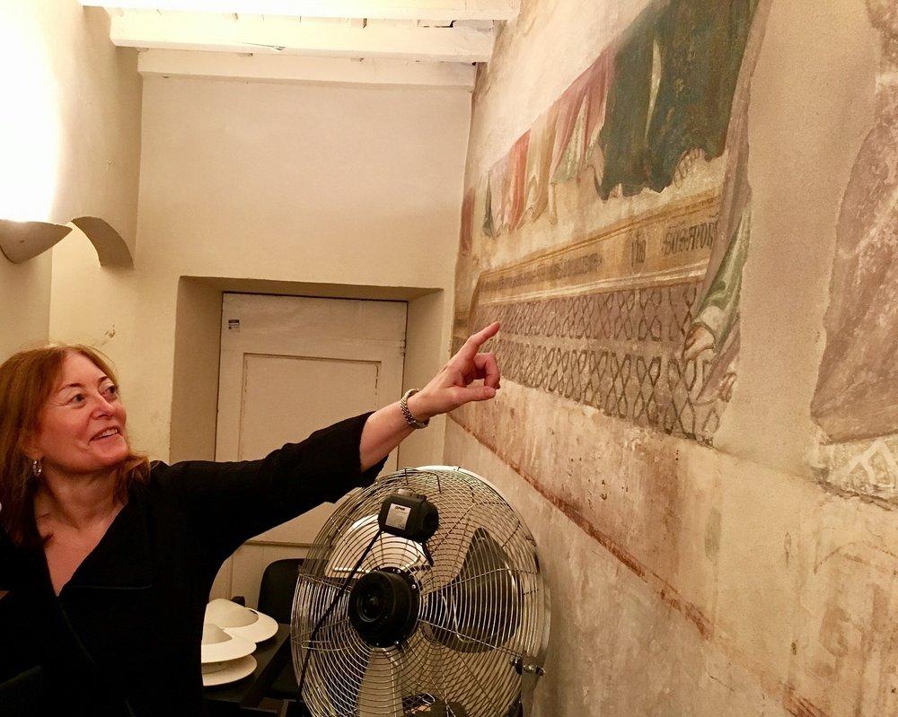 Donna Malin, membro del Consiglio Consultivo Internazionale, al complesso 'Il Fuligno'