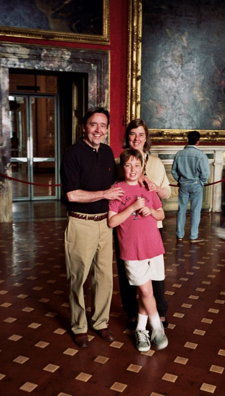 Una preziosa foto di Alice e della sua famiglia durante il loro 'magico' anno a Firenze.