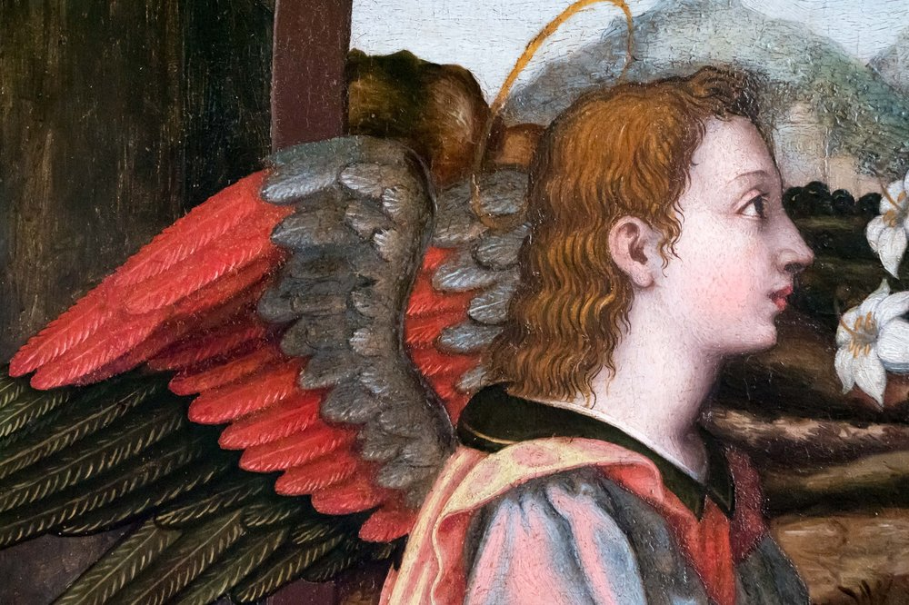 Beato angelico inspired wings on Nelli's angel