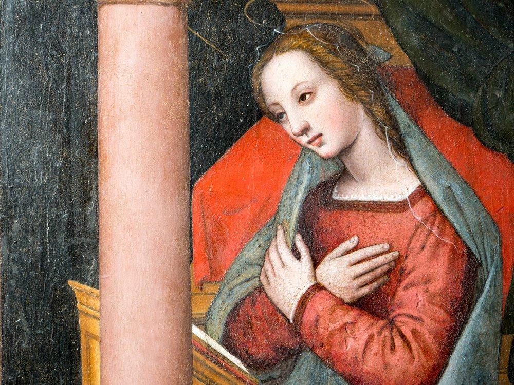 Un dettaglio della Madonna di Nelli