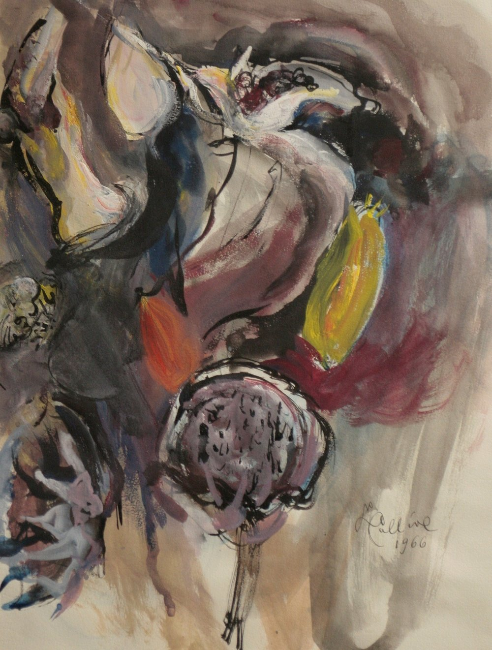 Lea Colliva, Tempera on paper, mid-1960s