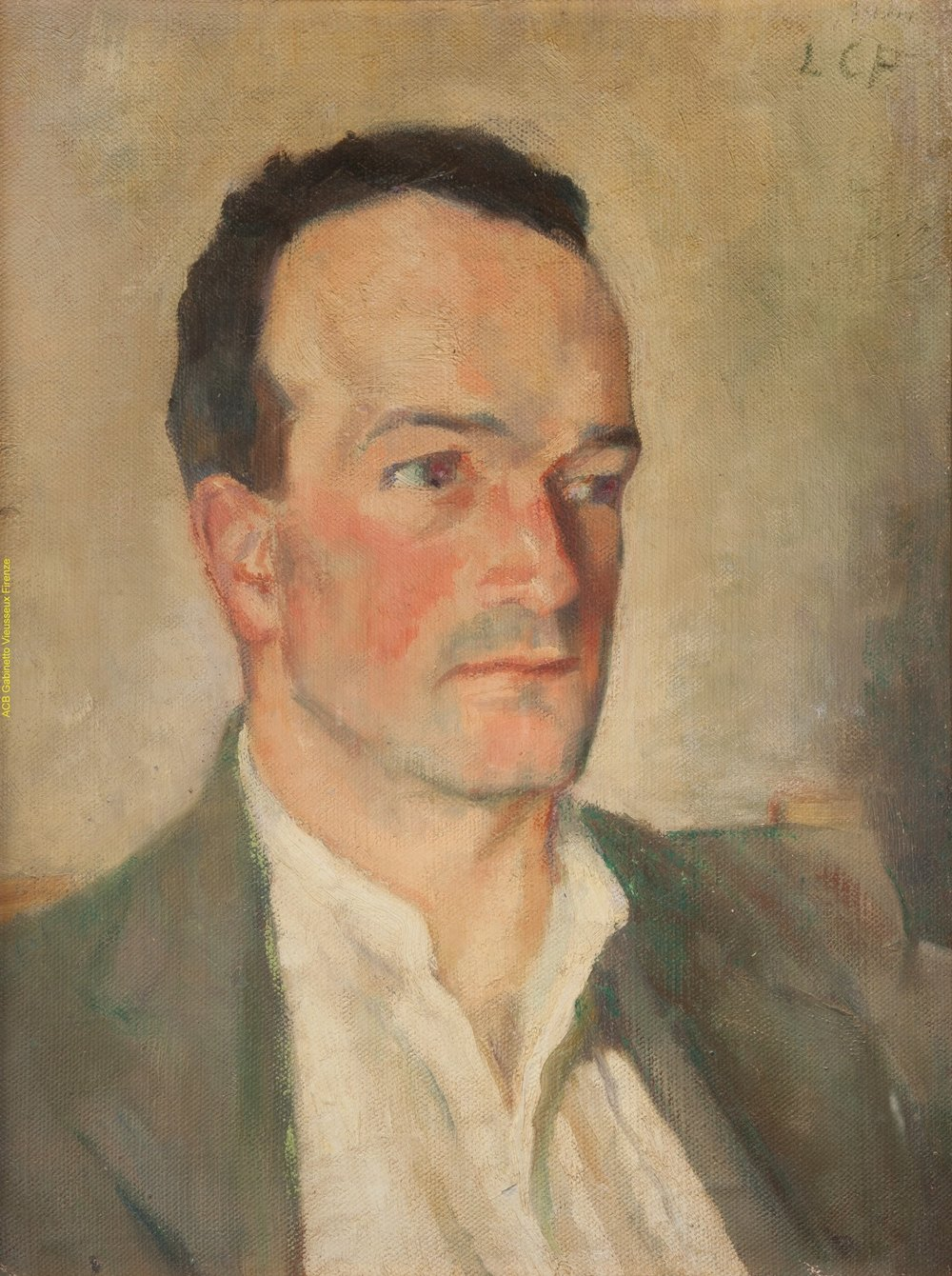 Leonetta Pieraccini's Portrait of Emilio Cecchi, 1919. Under restoration.