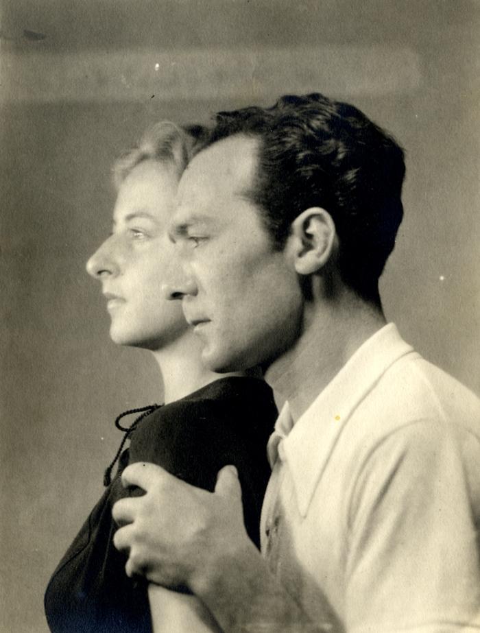 La pittrice Flavia Arlotta con il marito Giovanni Colacicchi