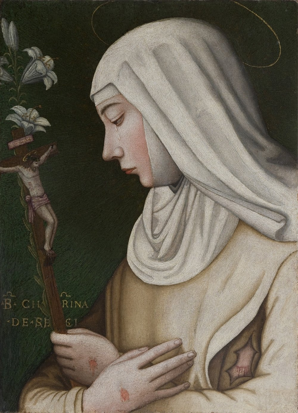 Saint Catherine with a Lily, restored 2013