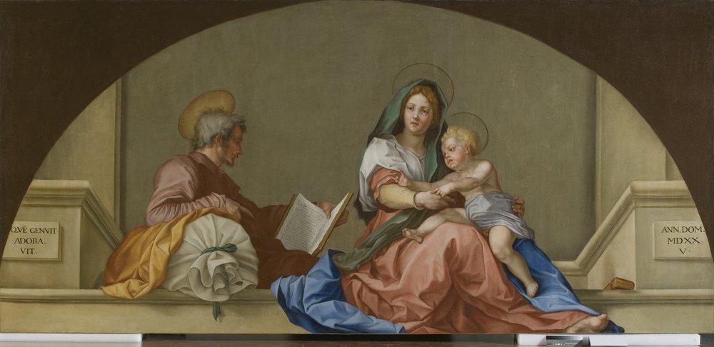 """La copia della """"Madonna del Sacco"""" all'Accademia, dipinta dalla Duclos e restaurata da AWA"""