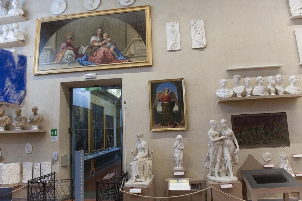 La copia della Madonna del Sacco all'Accademia, dipinta dalla Duclos e restaurata da AWA