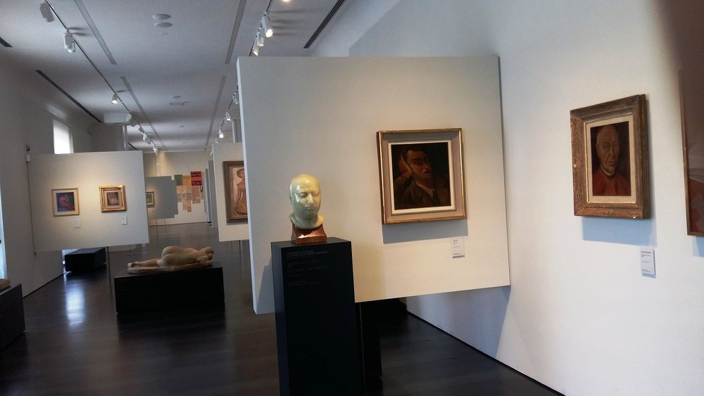 Emilio Jesi portrait bust by Raphael Mafai on display at Florence's Museo Novecento