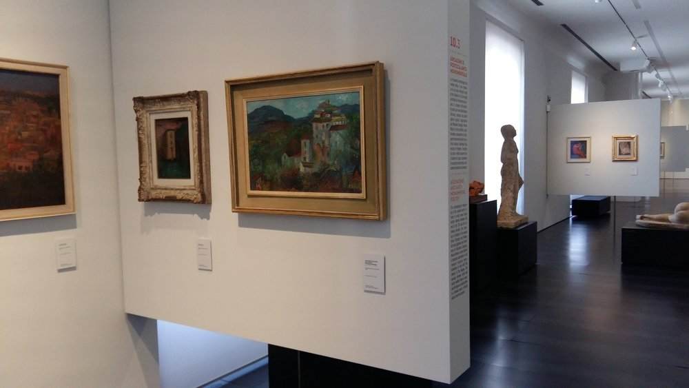 Raphael Mafai's View of Olevano on display at the Museo Novecento