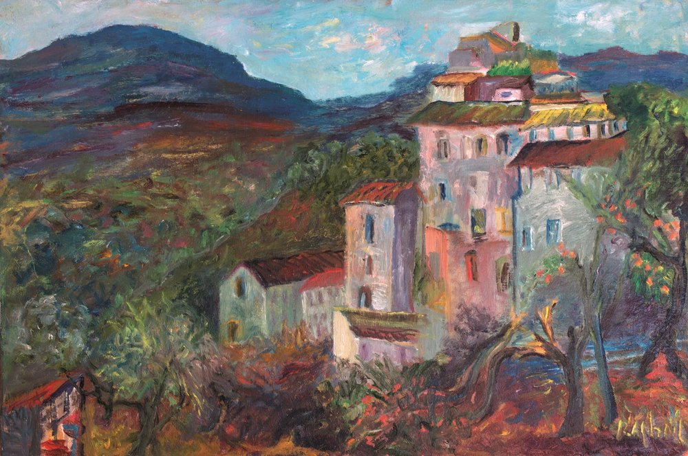 View of Olevano by Antonietta Raphael Mafai