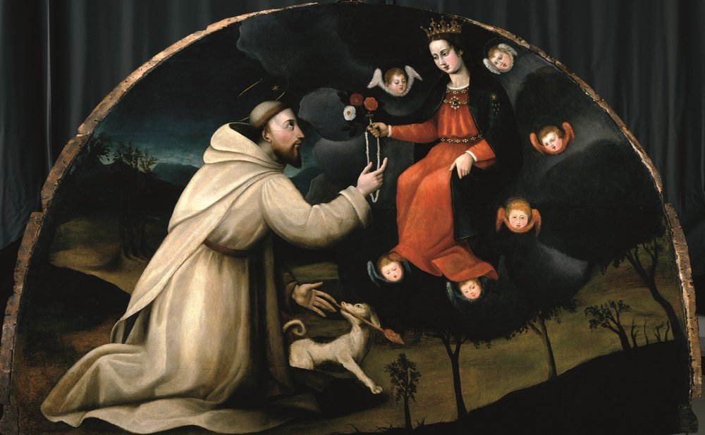 Saint Dominic Receives the Rosary by Plautilla Nelli (c. 1570)