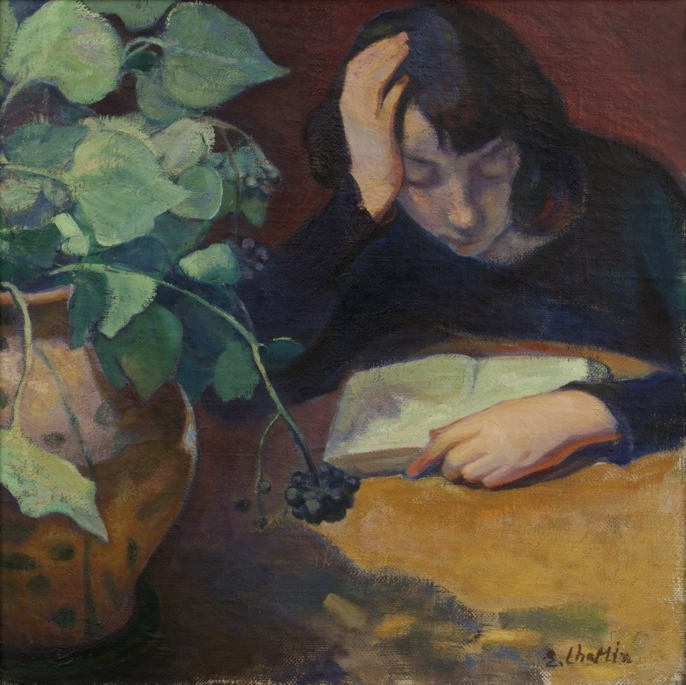 Nennette Reading by Elisabeth Chaplin, on show at the exhibition (Private collection).
