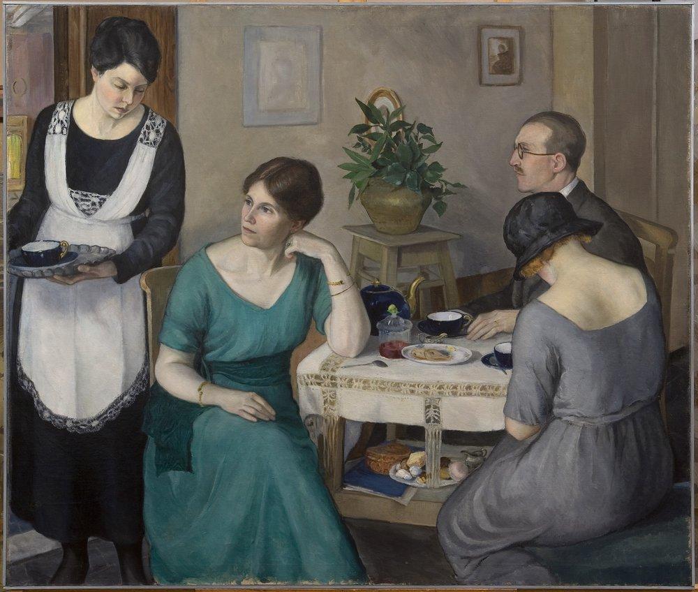 Interno con figure dalla Galleria d'arte moderna del Pitti (Gallerie degli Uffizi)