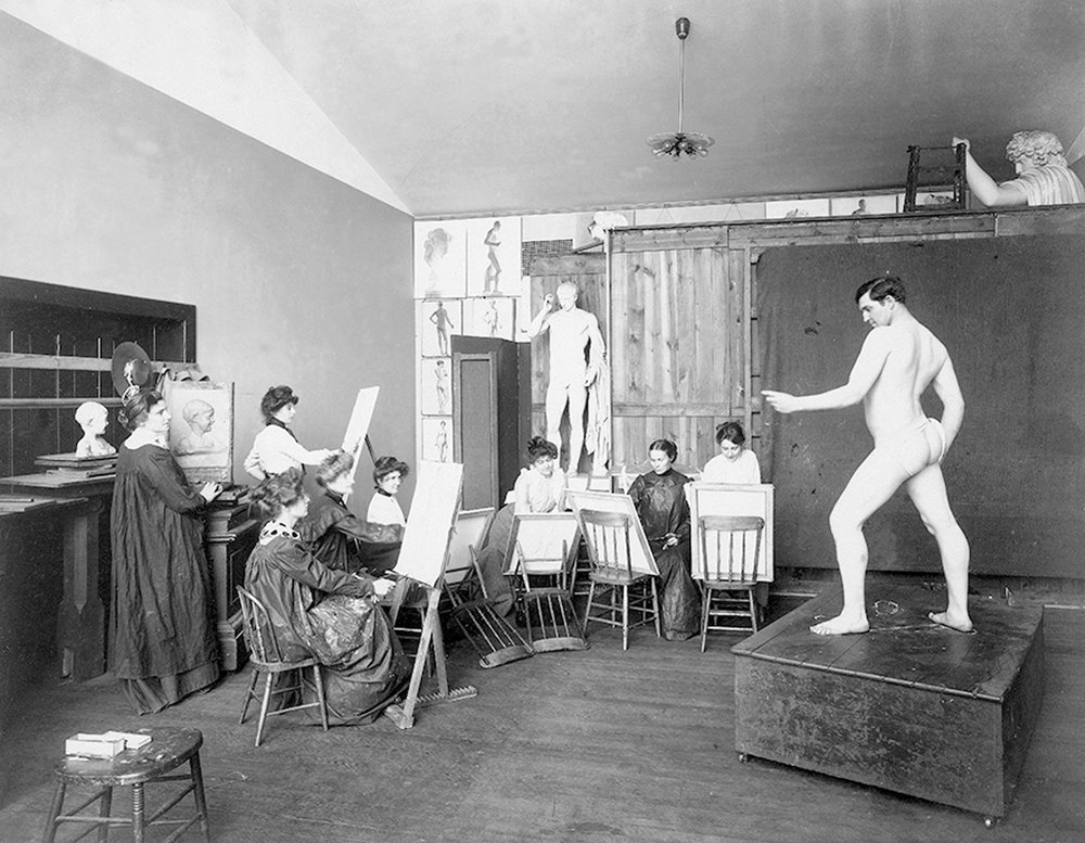 Alinari collection, author unknown, Figure drawing class, circa 1900