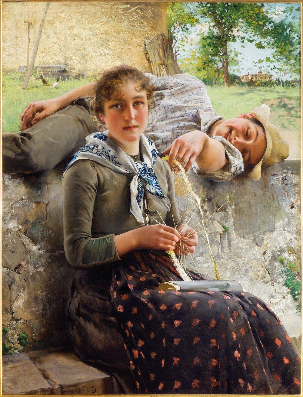 Stella e Piero, Vittorio Corcos, Galleria d'arte Moderna, Gallerie degli Uffizi, Firenze