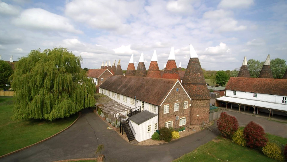 The Hop Farm Paddock Wood - Shot from the drone prior to a wedding fair