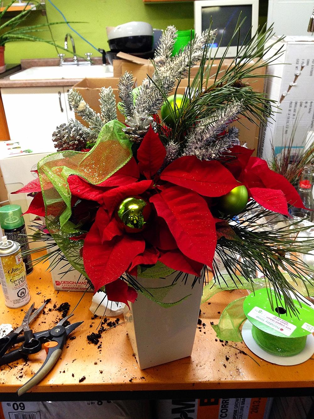 Red Poinsettia Custom Planter.jpg