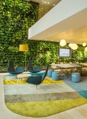 the nuon office as designed by heyligers design + project        Green Walls in Office Design: What are the benefits?