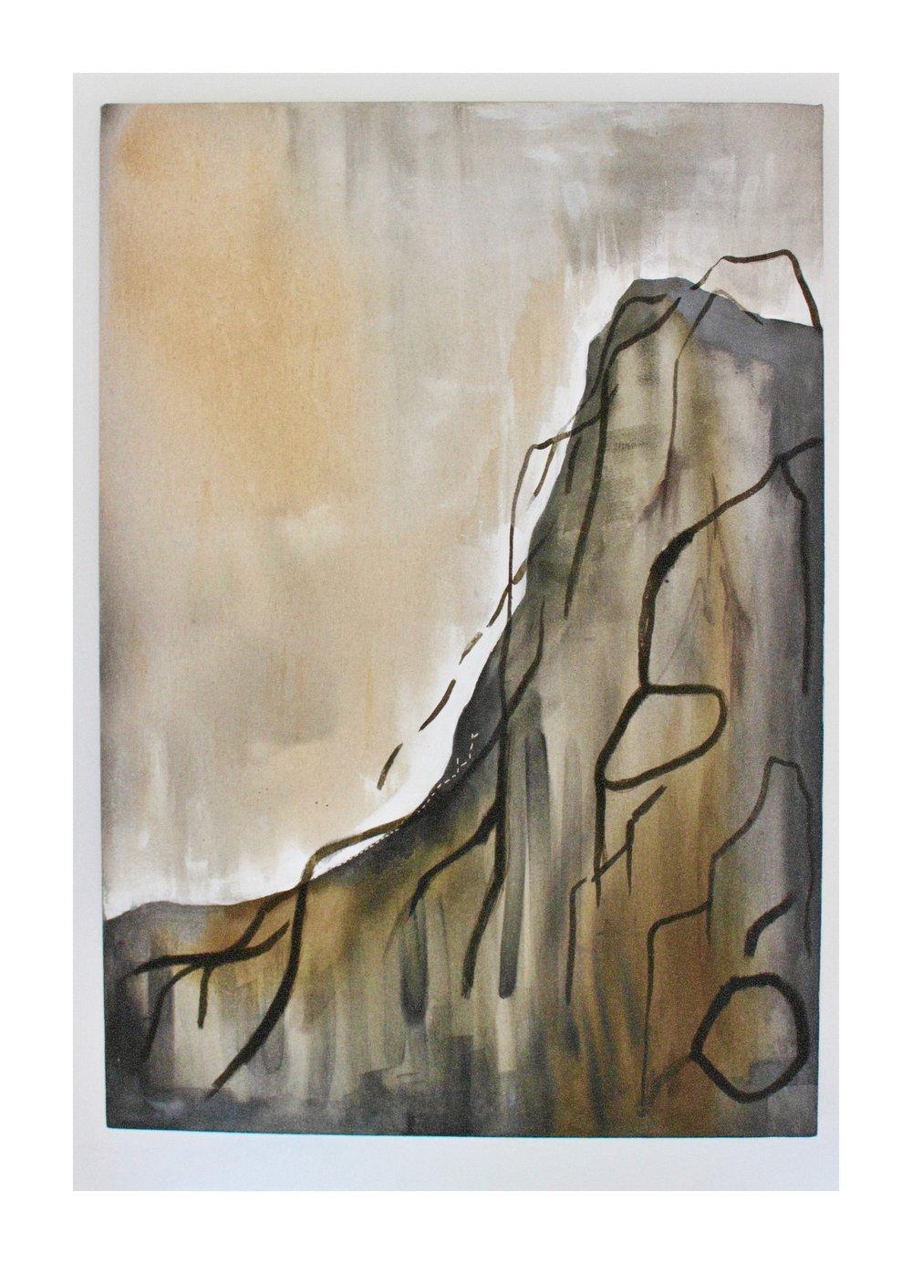 Etive Mor ~ Ink on Linen Canvas ~ 2018  100 cm x 70 cm