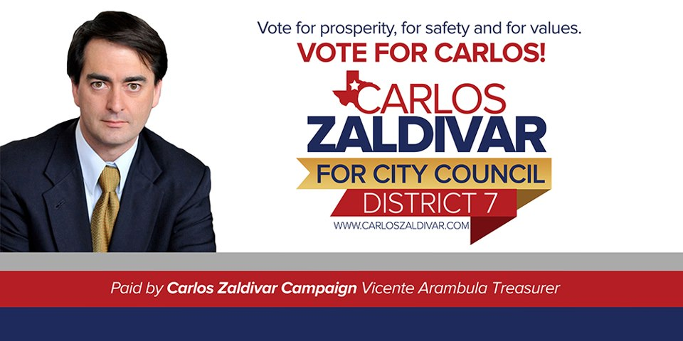 Carlos Zaldivar City Council Campaign
