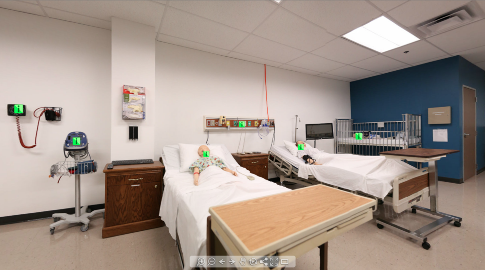 NURSING TRAINING & DELIVERY LAB: 3 Room 360 Degree Tour With Active Hotspots (Career Point College)