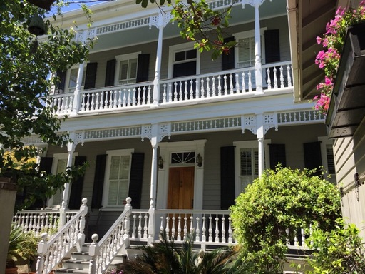 Antique Charleston Single house with double porches