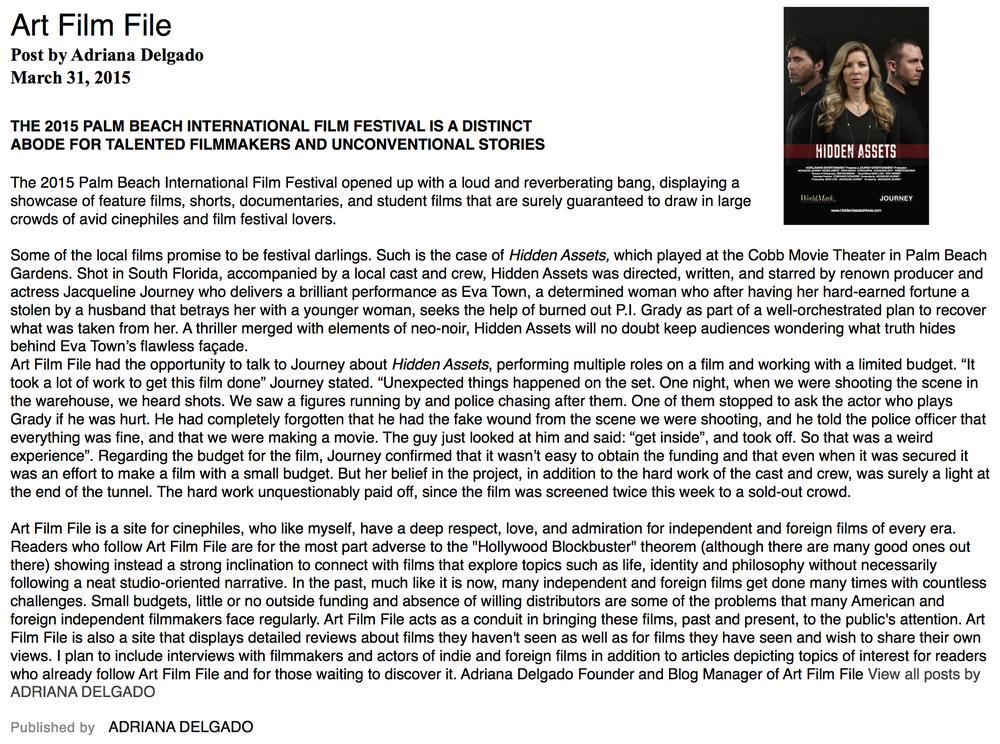 Hidden Assets Art Film File Review