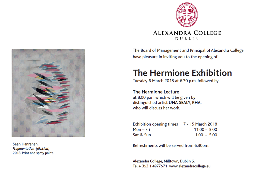 Wrok form 'The Girlhood Project' featured in Hermione Exhibition 2018.