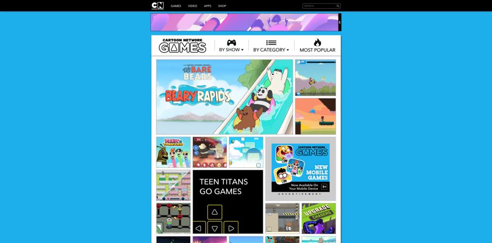 Games Home - Cartoon Network Website