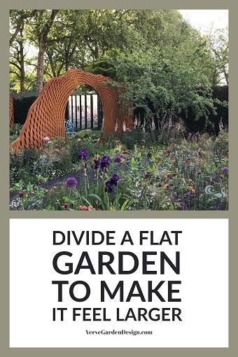 Corten Steel Panels in David Harber/Savills Garden. Designer:Nic Howard. Image: Lorraine Young/Verve Garden Design