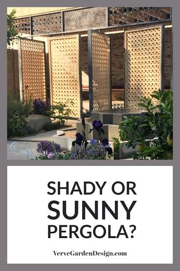 Modern Steel Pergola With Pivot Panels To Control Light, Shade and Privacy. Designer: Tom Massey, Lemon Tree Trust Garden. Image: Chris Denning/Verve Garden Design