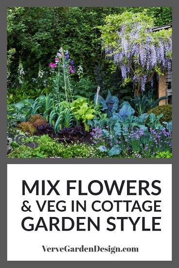 Ornamental Vegetables and Garden Flowers Grown Together in the Welcome to Yorkshire Garden. Designer: Mark Gregory. Image: Chris Denning/Verve Garden Design.