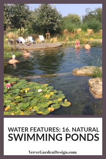Stunning natural swimming pond designed by Sarah Murch together with  Ensata .   Image: Lorraine Young/Verve Garden Design.