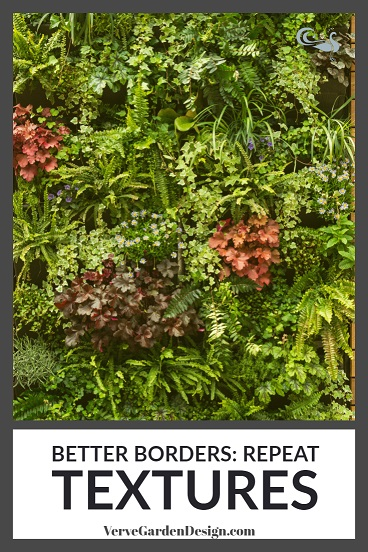 Randomly- repeated textures create a striking effect in this living wall designed by Jo McCreadie for Marshalls Paving. Image: Chris Denning/Verve Garden Design
