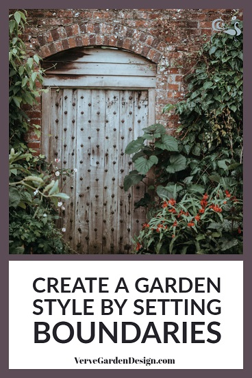 Choosing a garden style helps you limit the features that you use.