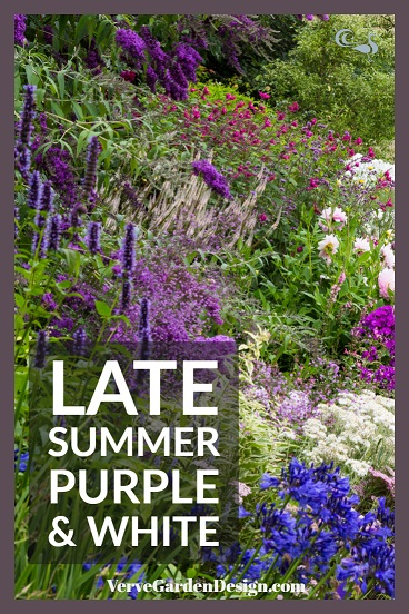 Painterly Purple Borders at Wollerton Old Hall. Image: Chris Denning/Verve Garden Design.