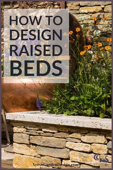 Dry stone wall raised beds. Designer: David Neale. Image: Chris Denning/Verve Garden Design