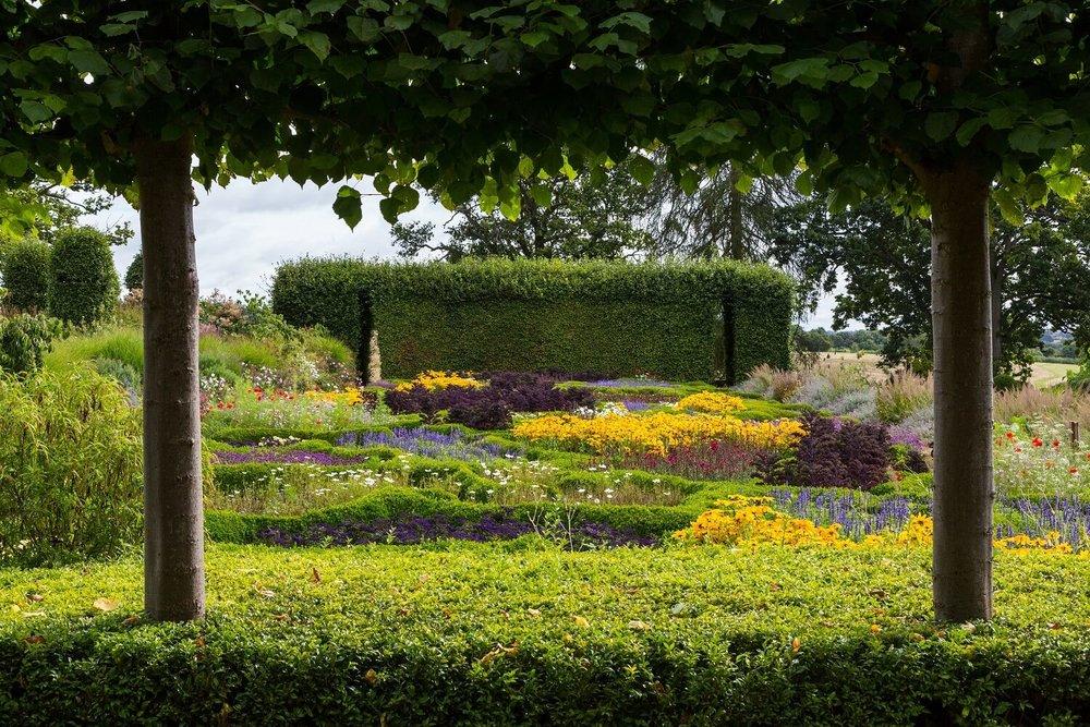 Tom Stuart-Smith Parterre at Broughton Grange. Planting Scheme: Andrew Woodall. Image: Chris Denning/ Verve Garden Design.