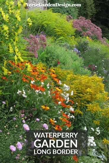 Colourful Herbaceous Border in Gertrude Jekyll Style at Waterperry Gardens. Image: Lorraine Young/ Verve Garden Design.