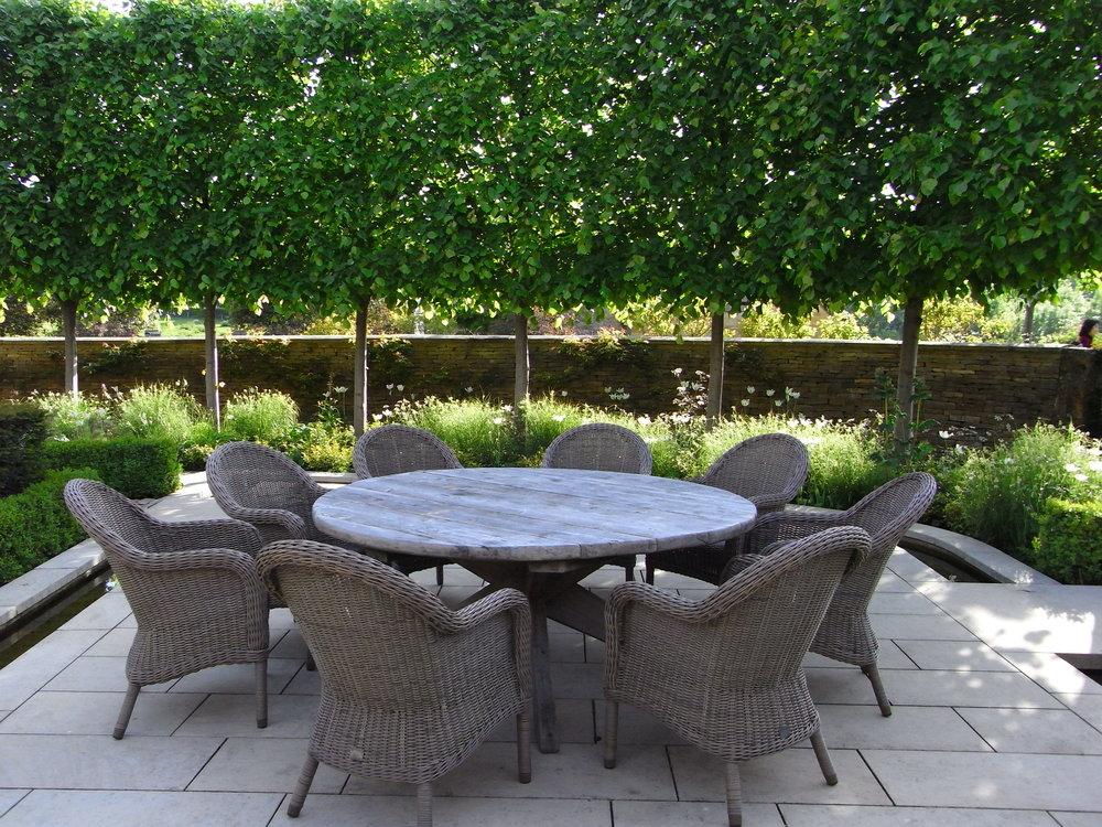 Limestone Patio Designed by Jinny Blom. Image: Lorraine Young/Verve Garden Design