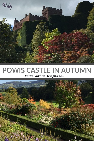 Powis Castle Garden Terraces in Autumn Image: Lorraine Young/ Verve Garden Design.