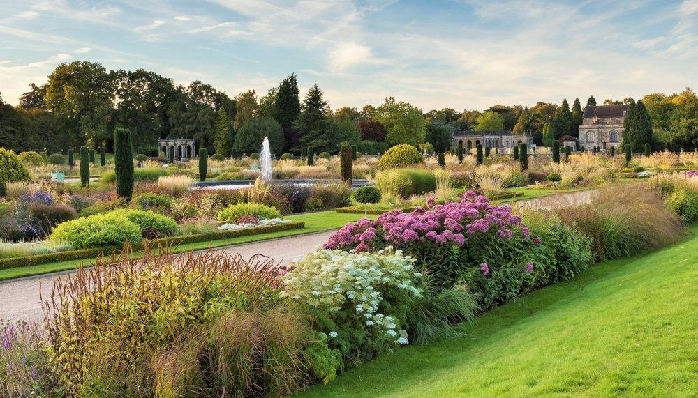 The Italianate Garden Looking towards Trentham Church. Designer: Ton-Stuart-Smith.  Image: Chris Denning/ Verve Garden Design.